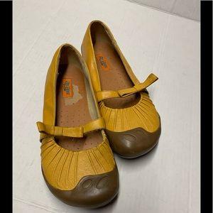 Miz Mooz by Gazith yellow leather shoes